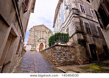 Town of Buje old cobbled square Istria Croatia