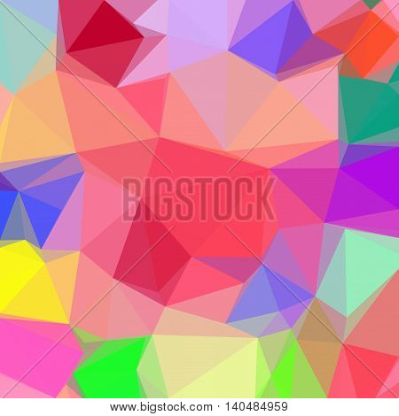 Low Poly Abstract Pattern, Colorful Polygonal Background. Vector
