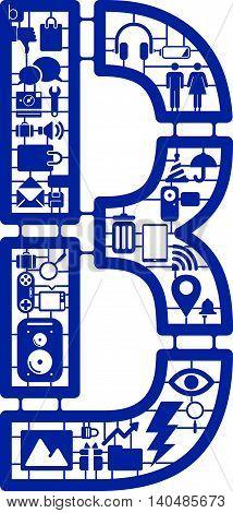 Assemble icon model kit form the font -B