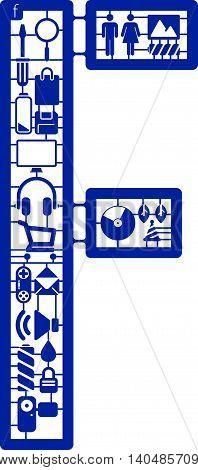 Assemble icon model kit form the font -F