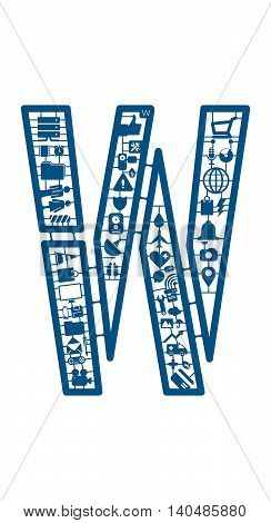 Assemble icon model kit form the font -W