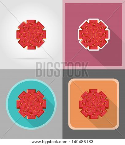 red bow for gift flat icons vector illustration isolated on background