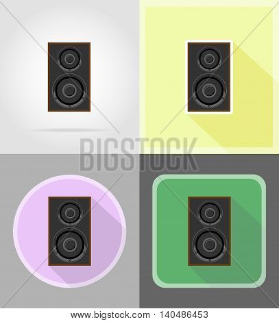 acoustic loundspeaker flat icons vector illustration isolated on background