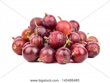 Pile Red Gooseberries