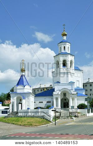 Kazan, Tatarstan, Russia - July 29, 2016. Church of in honor of of Holy Great Martyr of St. Paraskeva Pyatnitsa.