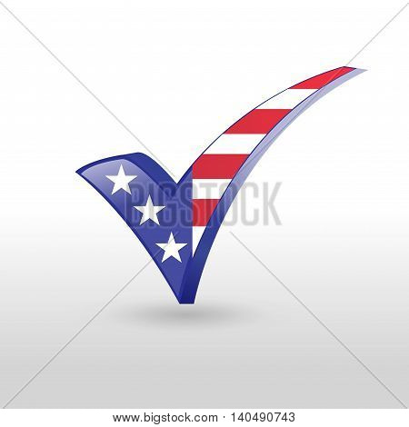 USA Check Mark , Tick Mark illustration