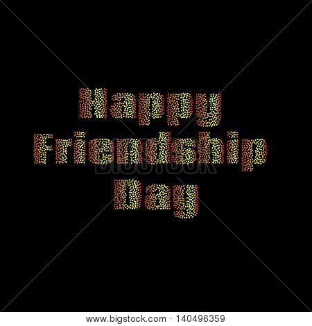 Vector illustration of a stylish for Happy Friendship Day