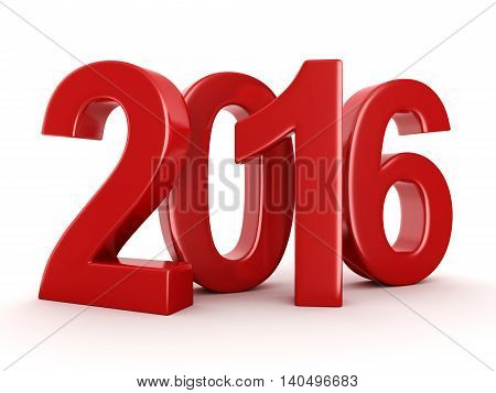 3D Rendering  2016 New Year Digits