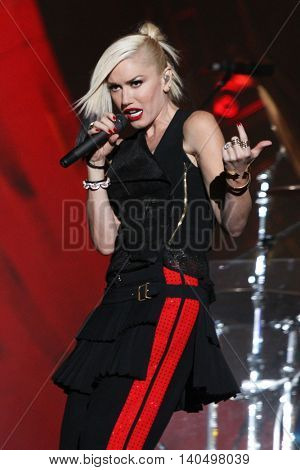 NEW YORK-SEPT 27: Singer Gwen Stefani of the musical group No Doubt performs at the 2014 Global Citizen Festival to end extreme poverty by 2030 in Central Park on September 27, 2014 in New York City.