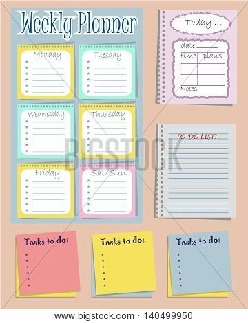 Set of six planners