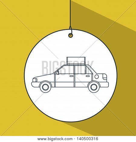 taxi service public icon vector graphic isolated