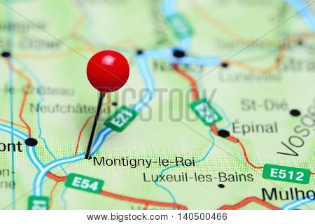 Montigny-le-Roi pinned on a map of France