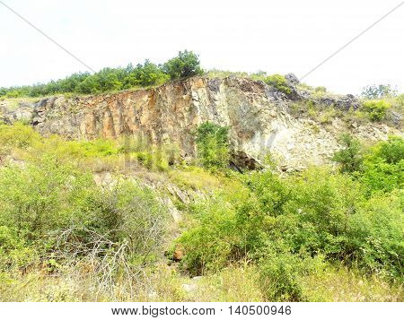 Hill near Stone Pit and wild nature