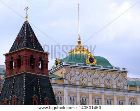 Moscow Russia - May 1 2011: Annunciation Tower of Moscow Kremlin.