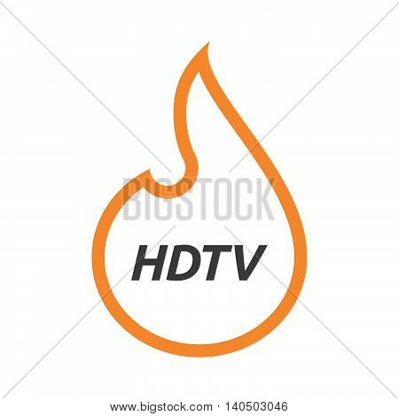 Isolated  Line Art Flame With    The Text Hdtv