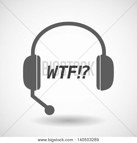 Isolated  Headset Icon With    The Text Wtf!?