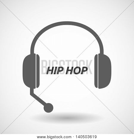 Isolated  Headset Icon With    The Text Hip Hop