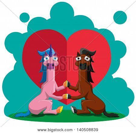 Unicorn And The Horse