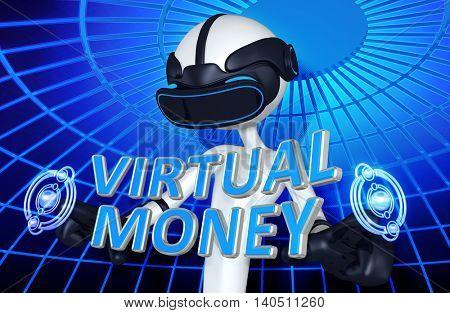 Virtual Reality VR Money 3D Illustration