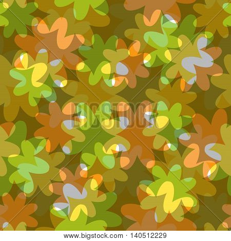 abstract floral seamless pattern with translucent colors
