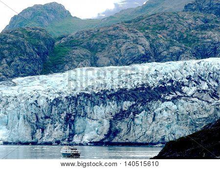 A glacier in Alaska taken from a cruise ship in 2003