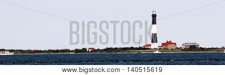 The Fire Island Lighthouse taken from across the great south bay