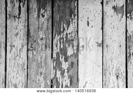 Old wooden surface with cracked paint outdoor