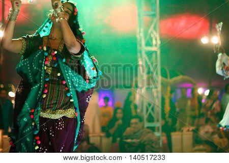 Rajistani dance performance at a Pakistani wedding