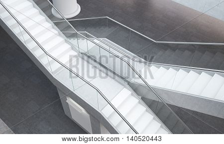 Two Staircases In Modern Office