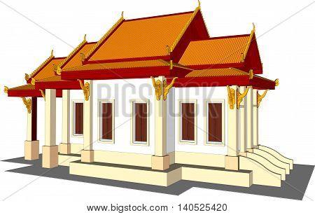illustration design plan buddhism isolated white background