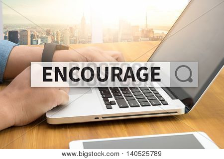 ENCOURAGE SEARCH WEBSITE INTERNET SEARCHING computer top