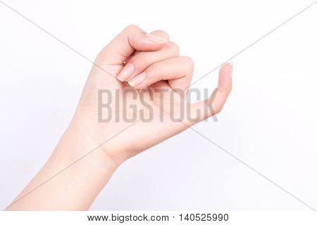 finger hand symbols isolated concept hook each other's little finger is mean to reconcile or promise or friendship on white background