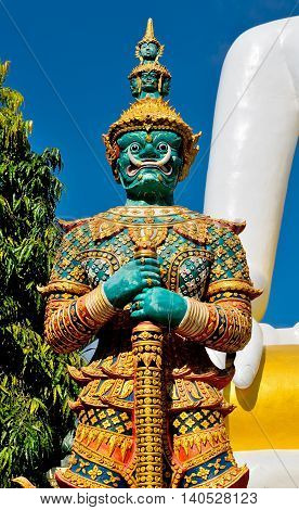 Giant Statue At Thai Temple