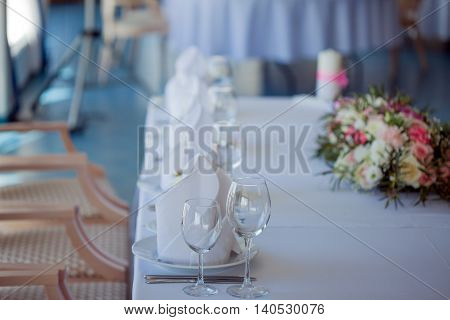 Wedding banquet, small restaurant in a Maritime style