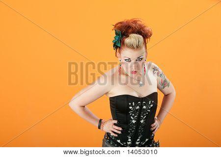 Suspicious Retro Woman