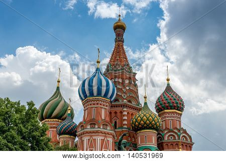 St basil's Cathedral in Moscow. Close to the Red Square and the Kremlin.