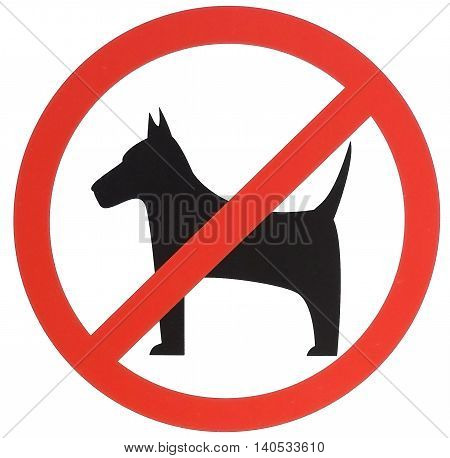 No dogs allowed sign. Prohibition sign. Dogs not allowed graphic.