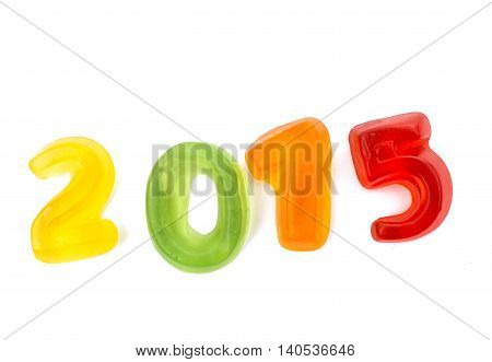 jelly figures 2015 on a white background