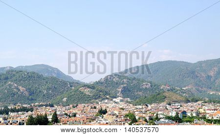 Mountain. Resort city Marmaris on the south-west of country