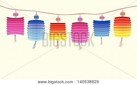 Illustration about traditional festival lanterns for ddesign
