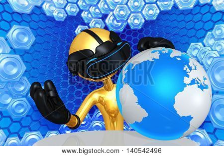 Virtual Reality VR World 3D Illustration