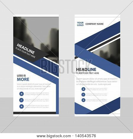 Purple Business Roll Up Banner flat design template Abstract Geometric banner template Vector illustration set abstract presentation brochure flyer template vertical template vector