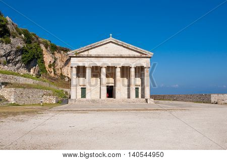 The church of St. George at the Old Fortress. Corfu Greece.