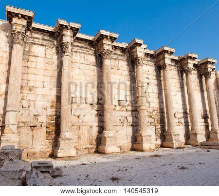 Detail of the Roman Agora architecture. Athens.Greece.
