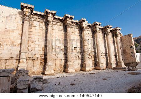 Roman Agora architecture. Athens.Greece.In the citi centr.