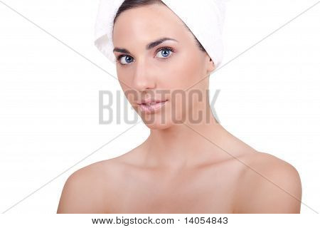 Woman With Pure Skin After Bath