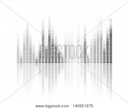 Vector Illustration of a Music Background with Equalizer