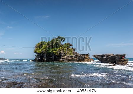 Tanah Lot temple Bali, Indonesia clear sky