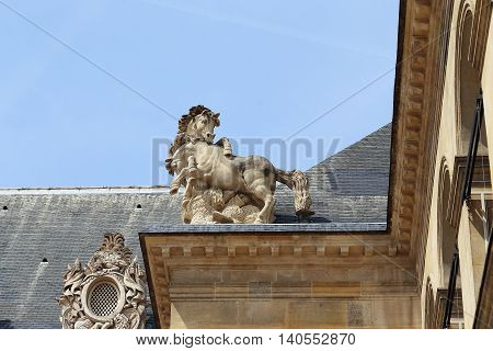 PARIS, FRANCE - MAY 12, 2015: This is architectural fragment decorations Les Invalides.