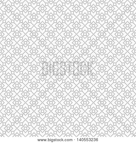 Seamless pattern. Modern stylish small dotted texture. Regularly repeating geometric tiles with dotted rhombus diamond. Vector abstract background